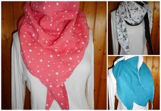chèche, foulard, femme, mi-saison,gaze,double gaze